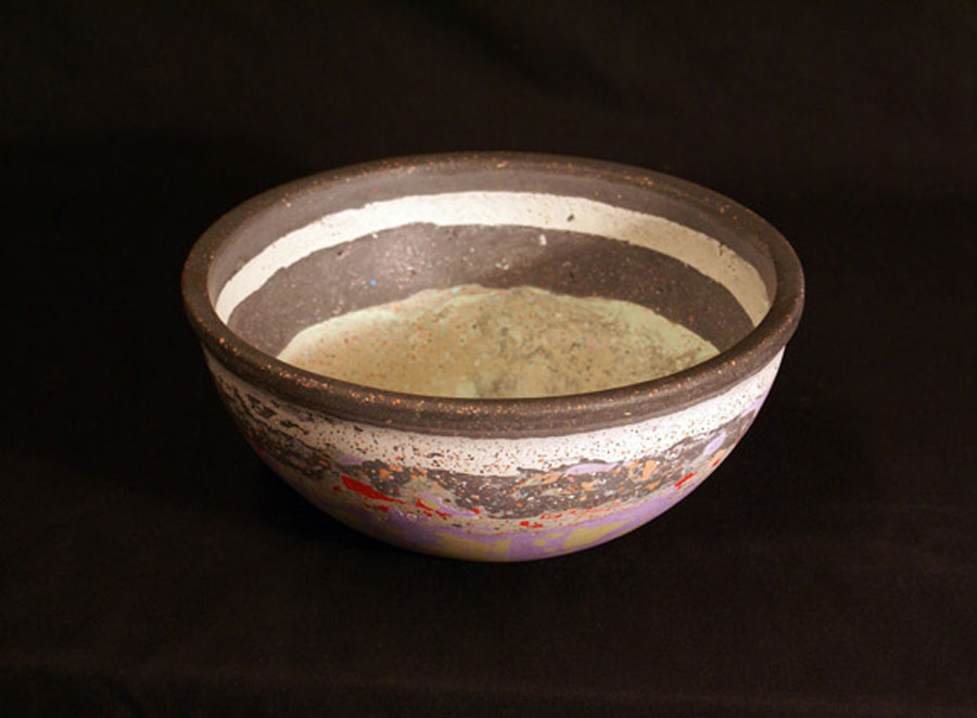 Banded Bowl (Small), Pigmented Alpha Plaster