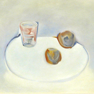 Nicolas De Staël:  'Persimmons and Glass' 53 x 39cm